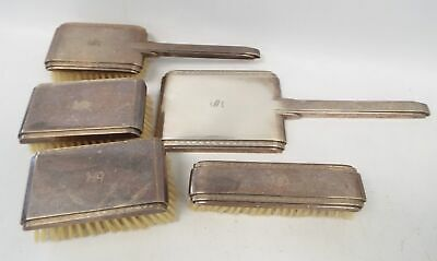 Hallmarked STERLING SILVER Dressing Table Set - Brushes & Mirror - C27