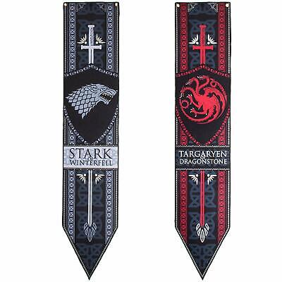 Calhoun Game of Thrones Stark & Targaryen Felt Banner Set