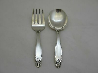Vintage International Sterling Silver Prelude 2 Piece Baby Set