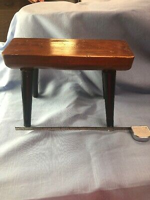Antique Wooden Primitive Foot Stool/ Small Bench
