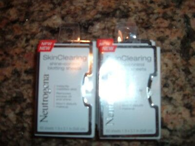 600 Neutrogena Skin Clearing Shine Control Blotting Sheets Removes Oil & Shine
