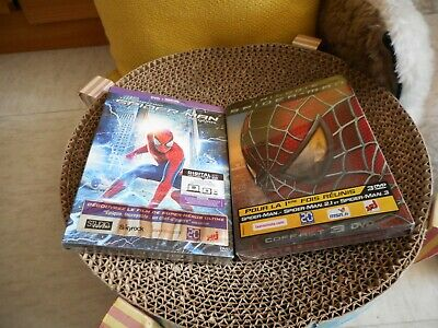 Coffret 3 DVD La trilogie Spider-man + 1 DVD The Amazing - NEUF