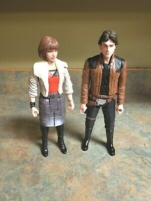 Star Wars Story Qi Ra and Han Solo Loose Figure Doll