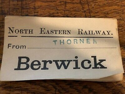 North Eastern Railway N.e.r Ner Parcel Luggage Label Tag Berwick From Thorner