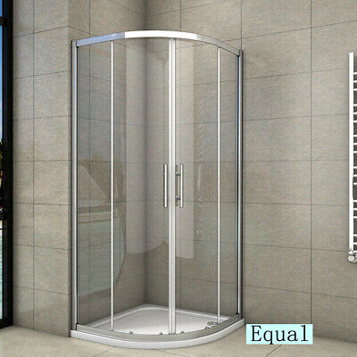 Walk In Quadrant Shower Enclosure Corner Cubicle Tempered Glass Door With Tray