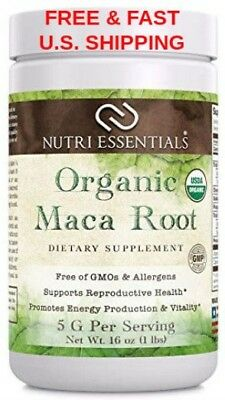 ORGANIC Maca Root Powder Pure Peruvian Premium-Grade Superfood Raw USDA VEGAN