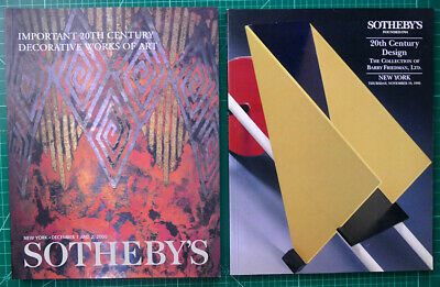4 Sotheby's Art Deco 20th Century Design Decorative Arts Catalogs 1990's