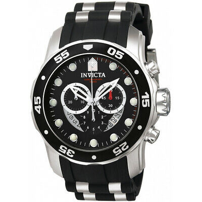Invicta Mens Pro Diver 6977  Polyurethane, Stainless Steel Chronograph  Watch