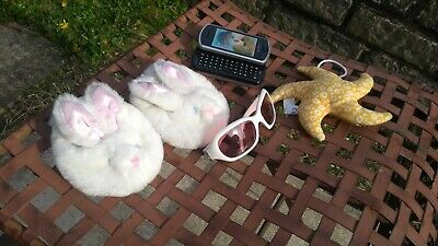 Build a Bear BABW Bunny Slippers, Sunglasses, Mobile Phone Accessory Bundle
