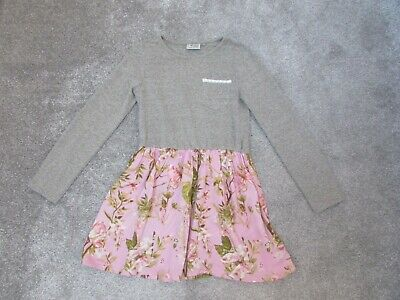 Next girls 9 years long sleeved butterflies floral tunic dress - Very good con