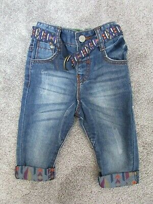 Boys Next 9-12 months denim jeans with belt - Very good condition