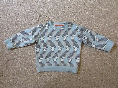M&S Marks and Spencer boys 9-12 months Puffin Penguin jumper - Very good con