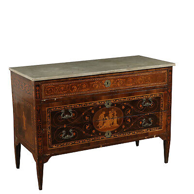 Neoclassical Chest of Drawers Marble Top Italy 18th Century