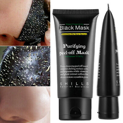 BLACK MASK PEEL-OFF ACNE PURIFYING DEEP CLEANSING CHARCOAL BLACKHEADS SPOTS 50ml