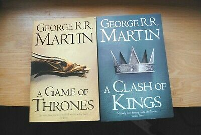 A GAME OF THRONES Book 1 & A CLASH OF KINGS Book 2 George R. R. Martin