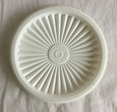 """Tupperware #812-19 White Round Servalier 5"""" Replacement Lid"""