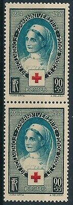 [H17989] France 1939 RED CROSS Good stamp X2 IN PAIR very fine MNH VALUE 39$