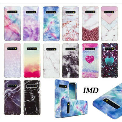 For Samsung Galaxy S10 S10e S10 Plus Marble IMD Soft Silicone Phone Case Cover