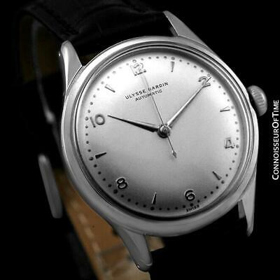 1950's ULYSSE NARDIN Vintage Mens Automatic Stainless Steel - Mint with Warranty