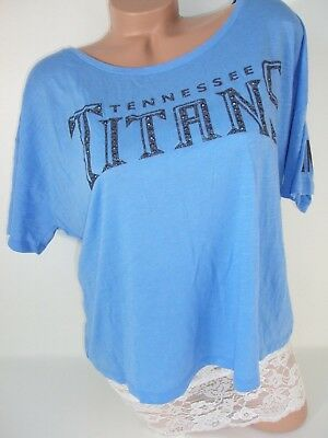 854b4e70 VICTORIA'S SECRET PINK Tennessee Titans T Shirt Jersey Bling Graphic ...