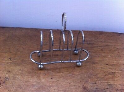 SMALL DECORATIVE VINTAGE SILVER PLATED TOAST RACK 4.75 by 2 inches