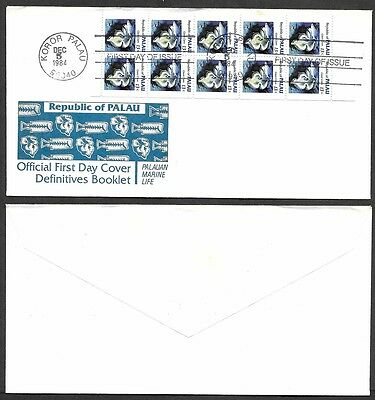 1984 Palau Complete Booklet Pane on First Day Cover
