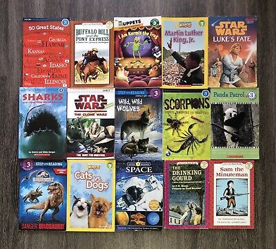 RANDOM Lot of 15 LEVEL 3 Early Readers Learning Childrens Books Paperback Boy