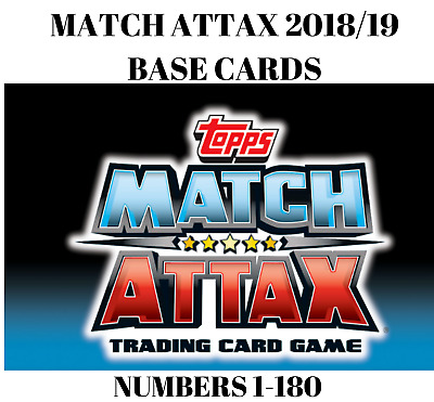 Match Attax 2018/19 18/19 Base Cards 1-180 Buy Any 2 Get 1 Free! Arsenal Chelsea