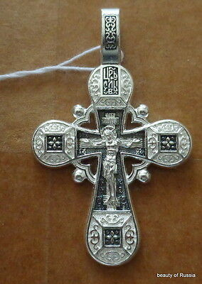 Plata de Ley 925 ' Colgante de Cruz Consecrated To The Relics de st George #9s