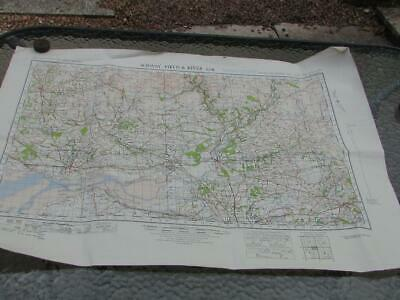 1940 Wwii Solway Firth & River Esk  Ordnance Survey War Revision Map Dated 1941
