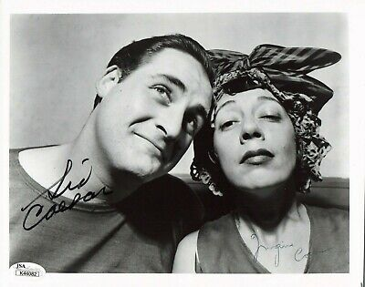Sid Caesar and Imogene Coca Signed 8x10 Photo with JSA Sticker No Card