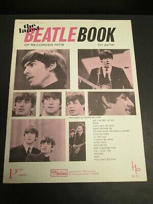 THE LATEST BEATLE BOOK Vintage Sheet Music Book 1965 PACIFIC POPULAR