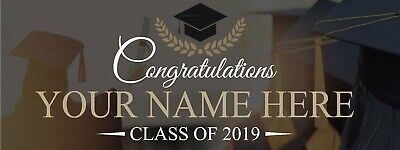 GRADUATION BANNER, GRADUATION Decoration Way to go Name