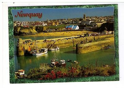 Postcard: Newquay Harbour and Beach, Cornwall