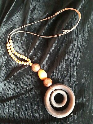Brazilian Necklace with Jarina seeds and wood
