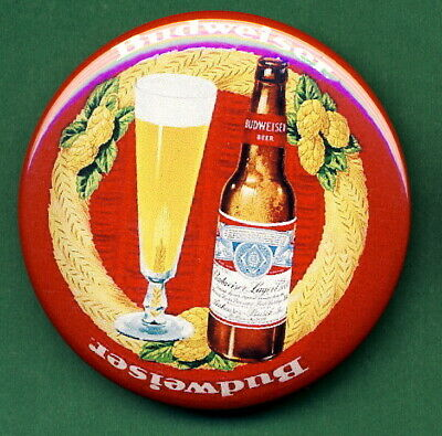 """Budweiser STYLE Beer Tray RP *PIN* """"Glass""""  Advertising St Louis Missouri"""