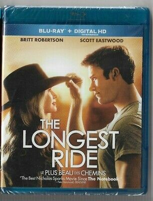New Sealed  BLU-RAY DISC + DIGITAL HD - THE LONGEST RIDE   -  Also In French