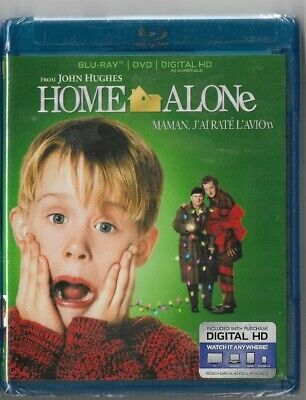 New Sealed  BLU-RAY DISC + DIGITAL HD + DVD + HOME ALONE  -  Also In French