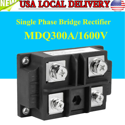 New MDQ 300A Single-Phase Diode Bridge Rectifier 300A Amp 1600V Power