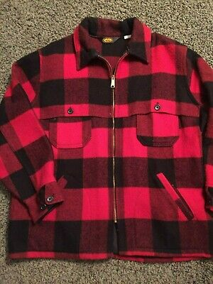 cde412ed5f487 Vintage Woolrich Red And Black Plaid Jacket - Wool - Men's Size Xl Usa