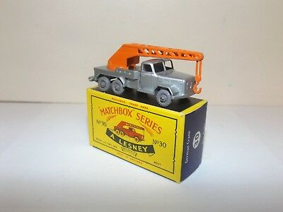 Matchbox Reg.wheel No.30B Magirus-Deutz 6 Wheel Crane Truck Rare Gpw