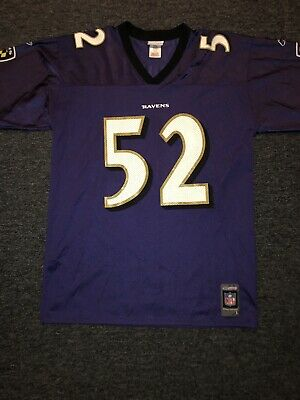ad1ee1cc754 NFL AUTHENTIC JERSEY Ravens Ray Lewis Mens Size 56 Throwback 2003 ...