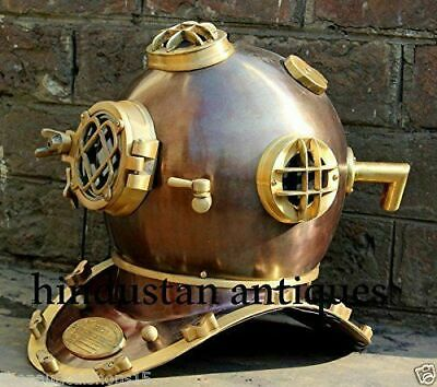 FULLY FUNCTIONAL 18'' Mark V BOSTON Scuba Divers Diving Sea US Navy 18' Helmet