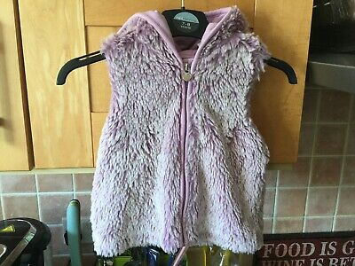 BABY GAP Mauve Hooded Body warmer Gilet - Age 2 Excellent 4813