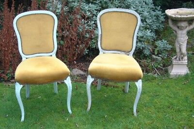 Antique Vintage two FRENCH louis revival style chairs