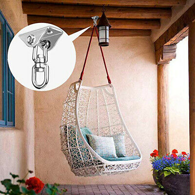 1PC Stainless Steel Hammock Chair Hanging Kit Swivel Snap Hook Ceiling Mount UK