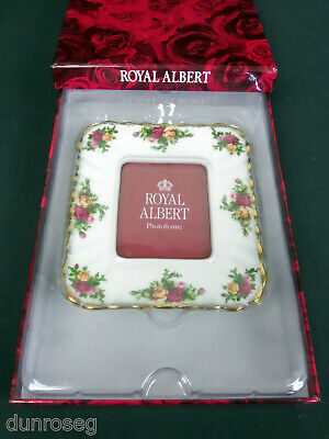 "OLD COUNTRY ROSES 15x13.5cm, 6x5"" PHOTO FRAME, 1st  QUALITY, VGC, ROYAL ALBERT"