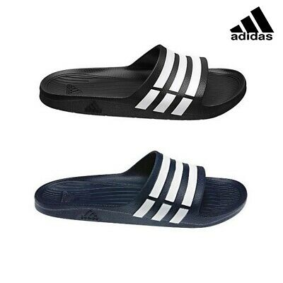 new products f5e20 bfc09 Adidas Mens Duramo Slides Flip Flops Sandals Pool Beach Sliders Shoes  Slippers