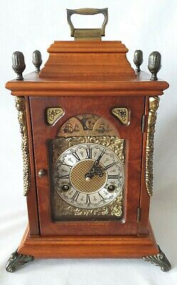 Hermle Mantel Clock Dutch Shelf Moon Dial 8 Day Wind Up Key Wind 1970