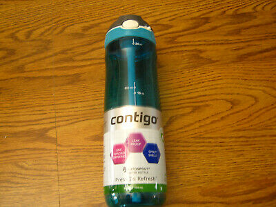 1 Contigo Autospout Ashland Water Bottle, 24 oz , Scuba 24 oz.   NEW